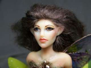 Frog water Fairy art doll ADSG OOAK IADR Kate Sjoberg
