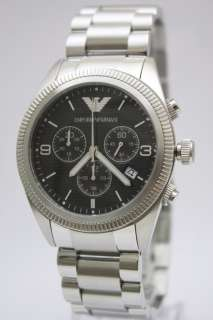 New Emporio Armani Men Steel Chrono Date Watch AR5897