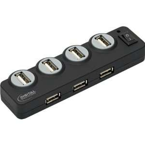 7 Port Desktop Usb Hub With 2.5V Ac Adapter Pc And Mac