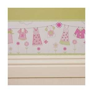 Clothes Line   Wall border 10 Yards Baby