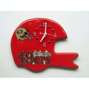 SAN FRANCISCO 49ers HELMET WALL CLOCK