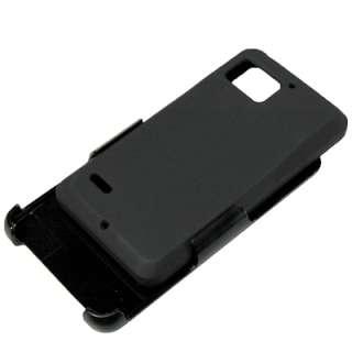 Hard Case Swivel Clip Holster Combo For Verizon Motorola Droid Bionic