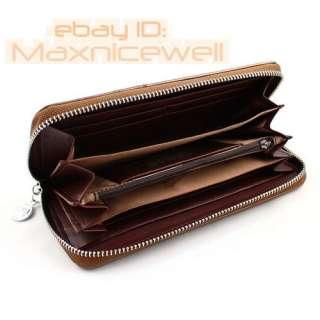 Quality Womens bowknot long Wallet Clutch Zipper Purse Handbag Bag