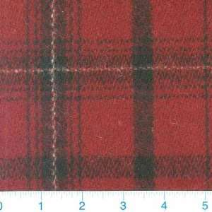 Weight Wool Maroon Plaid Fabric By The Yard Arts, Crafts & Sewing