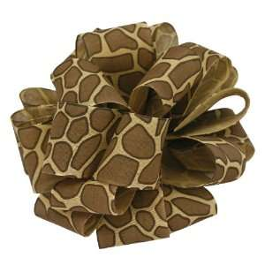Offray Jungle Giraffe Animal Print Craft Ribbon, 1 1/2 Inch Wide by 25