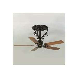 Fanimation The Americana Short Ceiling Fan w/ Oval Palm Leaf Blades
