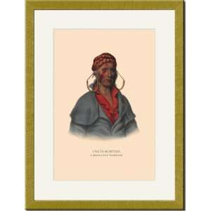 Gold Framed/Matted Print 17x23, Payta Kootha (A Shawanoe