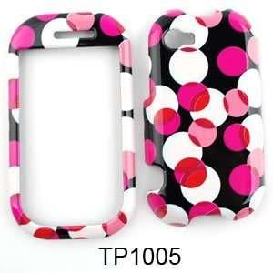 Sharp Kin 2 Muiti Pink Polka Dots on Black Hard Case/Cover