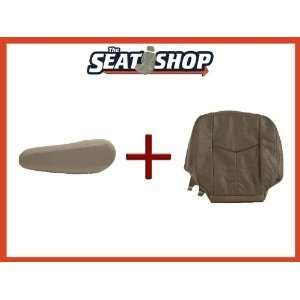 03 04 05 06 Chevy Tahoe GMC Grey Leather Seat Cover bottom