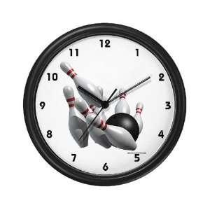 Bowling Strike Sports Wall Clock by