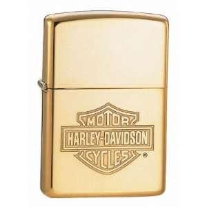Harley Davidson Brass Shield Zippo