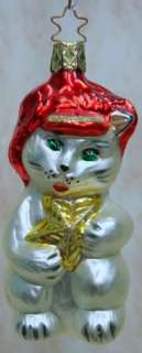 OLD WORLD Cool Cat Kitty Star ORNAMENT Inge Star102