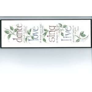 Creative Design Studio PL829 Dance Love Sing Live plaque