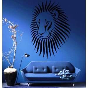 Lion King of Jungle Big Cat Head Tribal Animal Design Wall