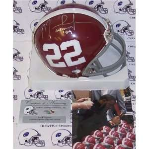 /Hand Signed Alabama Crimson Tide Mini Helmet Sports Collectibles