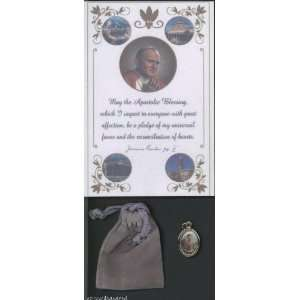 Saint/St. Joseph Gold Plated Medal Blessed by Pope John Paul II at the