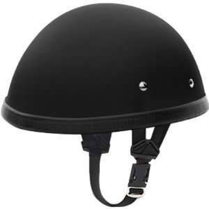 Basic/Custom Novelty Touring Motorcycle Helmet   Dull Black / Large