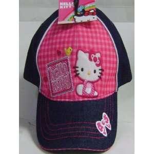 Super Cute Hello Kitty Plaid Pink Girls Cap Toys & Games