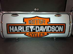 Custom LittleEarth Classic Harley Davidson Fender Flair License Plate