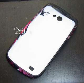 Floral Silicone TPU Soft CASE COVER Samsung Galaxy W i8150 Pink