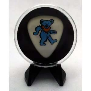 Grateful Dead Blue Dancing Bear Guitar Pick With MADE IN USA Display