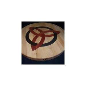 Round Cutting Board with Celtic Trinity Design Home & Kitchen