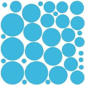 34 LIGHT BLUE POLKA DOTSWALL STICKERS DECALS ART DECOR