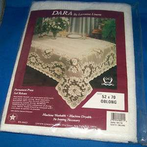 LACE WHITE OBLONG CRAFTED IN US TABLECLOTH DARA NIP