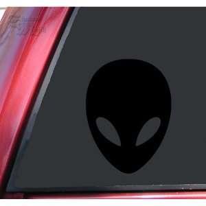 Alien Head Sci Fi Black Vinyl Decal Sticker Automotive