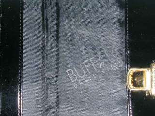 NEW Buffalo by David Bitton Womens Black Patent Leather Look Wallet