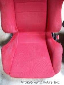 JDM RED RECARO SEATS   ACURA INTEGRA DC2 HONDA CIVIC TYPE R EK9