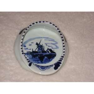 Delft Holland Blue Porcelain Hand Painted Windmill Scene