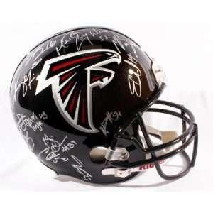 2011 Atlanta Falcons Team Signed Replica Helmet   32 Sigs