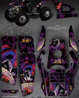 YAMAHA YFM350 WARRIOR DECALS GRAPHICS THE EVIL JESTER