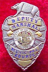 Los Angeles County Marshal Badge mini Defunct Dept