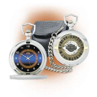 Mint Harley Davidson Midnight Ride Collector Pocket Watch