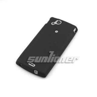 black matte TPU Silicone Case Skin Cover for Sony Ericsson Xperia Arc