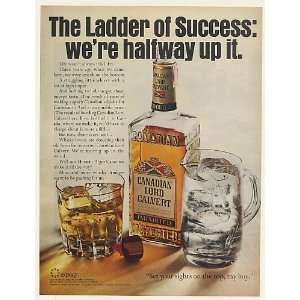 1967 Canadian Lord Calvert Whisky Halfway Up Ladder of