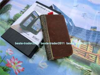 Luxury Vintage Leather Book Wallet Cover Case For iPhone 4 4S + film