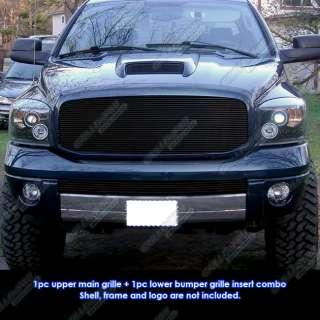 06 08 Dodge Ram Sport Black Billet Grille Combo