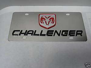 DODGE CHALLENGER LICENSE PLATE TAG STAINLESS STEEL