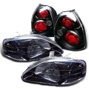 Eautolight 99 00 Honda Civic 3 Door Head Lights+tail Lights Brand New