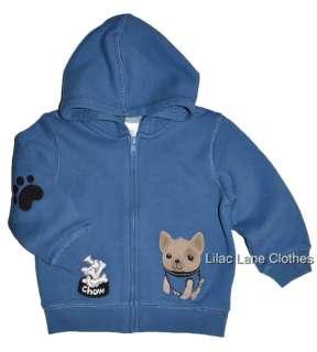 Gymboree Doggone Cute Pug Dog Puppy Blue Hoodie Shirt U Pick NWT 6 12