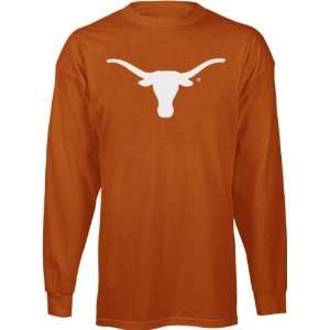 Texas Longhorns Orange Big Logo Long Sleeve T Shirt