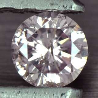 Natural Fancy Light Pink Diamond Round untreated loose gem rare color