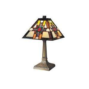 Dale Tiffany 7342 533 1 Light Table Lamp in Antique Bronze