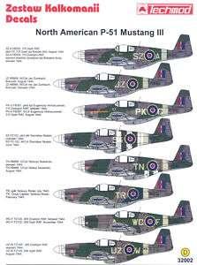 Techmod Decals 1/32 NORTH AMERICAN P 51 MUSTANG III