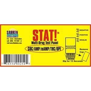Stat Drug Test Kit   5 Panel THC/AMP/mAMP/COC/OPI Health