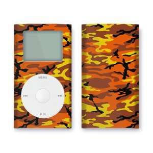 Orange Camo Design iPod mini Protective Decal Skin Sticker