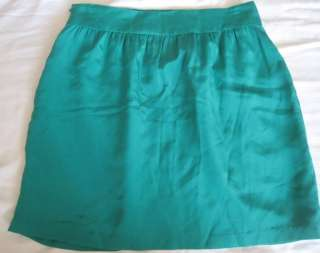 GEREN FORD NEW Sz 2 Stars Green Silk Skirt w/ Pockets
